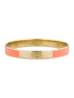 Chloé - Gold-Tone and Peach Enamel Bangle Bracelet