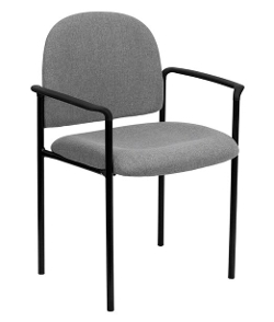 Flash - Fabric Comfortable Stackable Steel Side Chair