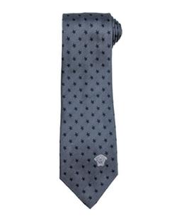 Versace  - Star-Print Silk Tie