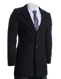 Flatseven - Slim Peaked Lapel Winter Wool Blends Coat