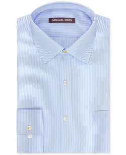 Michael Kors  - Blue and White Bengal Stripe Dress Shirt