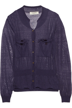 Valentino Roma - Fine Knit Linen Blend Cardigan
