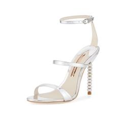 Sophia Webster  - Rosalind Crystal-Heel Leather Sandals