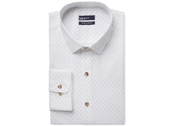 Bar III Carnaby Collection  - Slim-Fit Polka Dot Print Dress Shirt