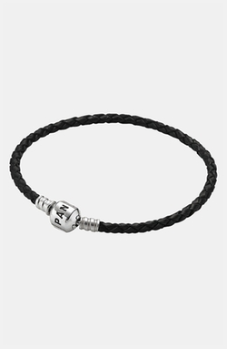 Pandora  - Woven Leather Charm Bracelet