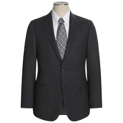 Hickey Freeman - Beaded Herringbone Suit