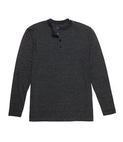 Roundtree & Yorke - Long Sleeve Stripe Henley Shirt