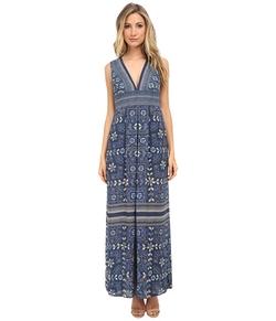 BCBGmaxazria - Elyza Printed Sleeveless Long Dress