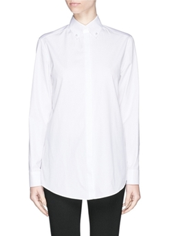 Givenchy - Pearl-Button Silk Blouse