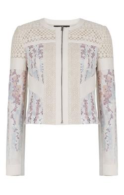 BCBGMAXAZRIA - Tarik Floral Print-blocked Jacket