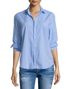 Frank & Eileen - Eileen Button-Front Poplin Shirt
