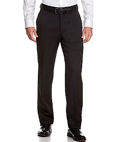 Hart Schaffner  - Marx Tailored Expander Waist Flat-Front Dress Pants