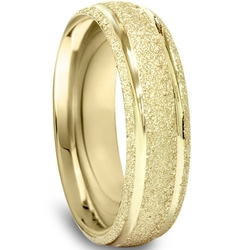 Pompeii3 Inc. - Brushed Wedding Band Yellow Gold