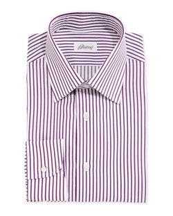 Brioni - Textured Bengal-Stripe Dress Shirt