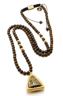 King Ice - Bronzite Bead Deity Necklace