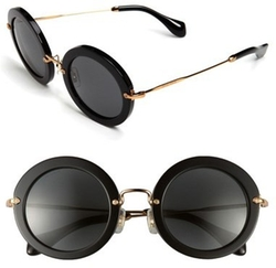 Miu Miu - Round Retro Sunglasses