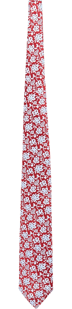 Baarneys New York - Floral Jacquard Neck Tie