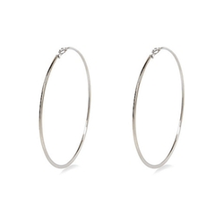 River Island - Silver Tone Oversized Hoop Earrings
