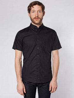 American Apparel - Rigo Cotton Short Sleeve Button-Down Shirt