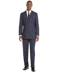 Brioni - Striped Wool Double Breasted Suit