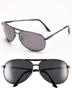 Polaroid Eyewear - Polarized Metal Aviator Sunglasses