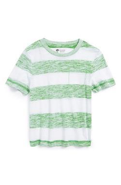 Tucker + Tate  - Rex Reverse Print Stripe Slub T-Shirt
