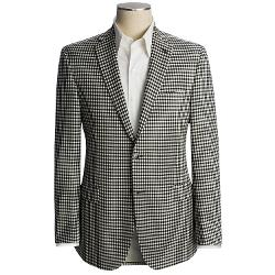 Jack Victor  - Check Sport Coat - Trim Fit, Wool-Mohair