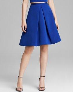 Tibi  - Katia Faille Pleat Skirt