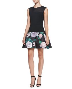 Erin Erin Fetherston	 - Sleeveless Floral Cocktail Dress