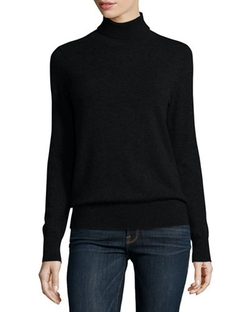 Neiman Marcus Cashmere Collection	  - Classic Cashmere Turtleneck Sweater