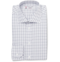 Turnbull & Asser   - Slim-Fit Check Cotton Shirt