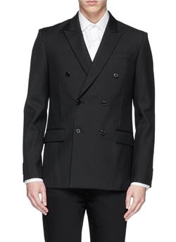 Givenchy   - Cuff Band Wool Blazer