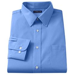 Croft & Barrow - Fitted Solid Broadcloth Point-Collar Dress Shirt
