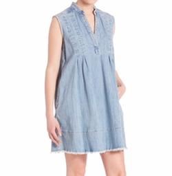 Current/Elliott - The Sleeveless Denim Tuck Dress