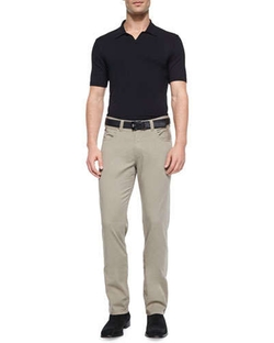 Armani Collezioni  - Solid Short-Sleeve Polo Shirt