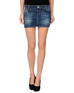 Fifty Four - Faded Effect Denim Skirt