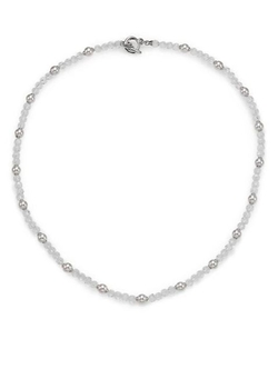 Majorica - Silver Beaded Necklace