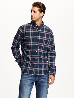 Old Navy - Slim-Fit Plaid Flannel Shirt