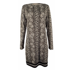 Michael Michael Kors - Long-Sleeve Print Shift Dress