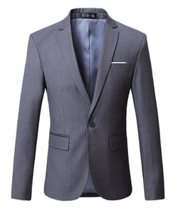 HZMK - One Button Casual Blazer