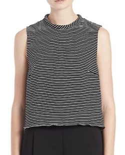 Nicholas - Cutout-Detail Twisted Striped Tank Top