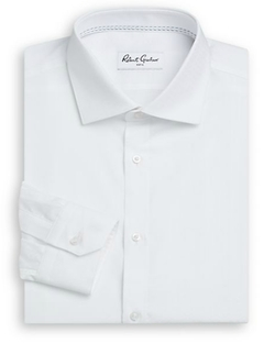 Robert Graham - Regular-Fit Solid Cotton Dress Shirt