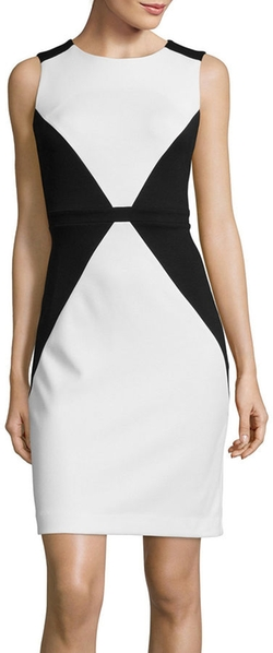 Nicole By Nicole Miller  - Sleeveless Colorblock Sheath Dress