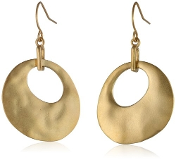 Kenneth Cole New York  - Worn Oval Earrings