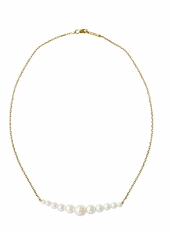 Karapetyan - Josephine Yellow Gold And Pearls Necklace