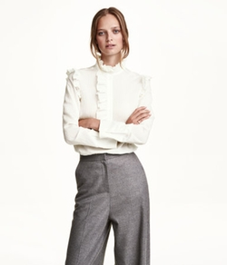 H & M - Blouse With Ruffles