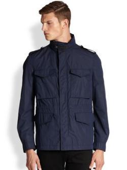 Armani Collezioni  - Wool & Cashmere Twill Field Jacket