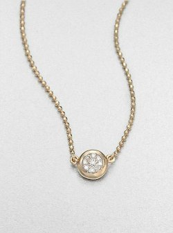 Phillips House  - 14K Yellow Gold & Diamond Delicate Pendant Necklace