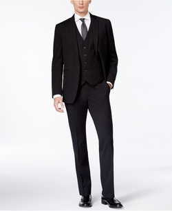 Kenneth Cole Reaction - Tonal-Stripe Vested Suit