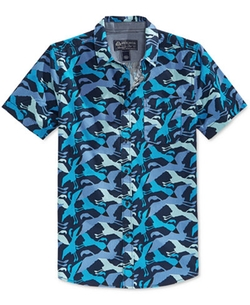 American Rag  - Short Sleeve Bird Print Shirt